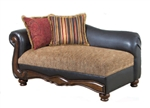 Odysseus Macy / Burgundy Floral Fabric Chaise by Serta Upholstery  - 50317