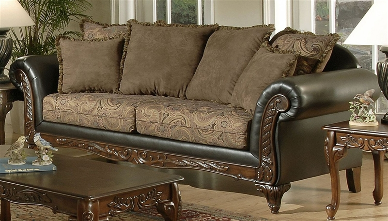 Ronalynn Sofa in San Mario Chocolate/ Silas Raisin Fabric by Serta ...