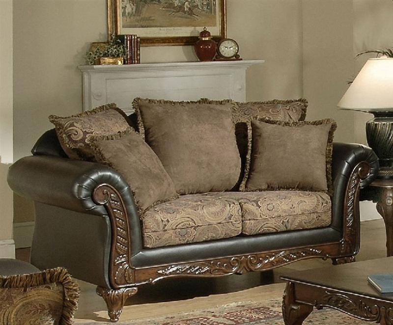 Ronalynn Sofa in San Mario Chocolate/ Silas Raisin Fabric by Serta ...