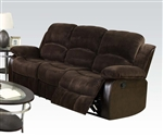 Masaccio Reclining Sofa in Two Tone Brown Upholstery by Acme - 50470