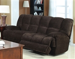 Ahearn Chocolate Microfiber Reclining Sofa by Acme - 50475