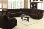 Ahearn Chocolate Microfiber 3 Piece Reclining Sectional by Acme - 50478