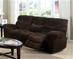 Loakim Chocolate Microfiber Reclining Sofa by Acme - 50480