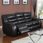 Dacey Espresso Leather Reclining Sofa by Acme - 50740