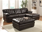 Nigel Dark Brown Bonded Leather Sectional by Acme - 50770