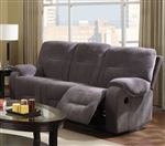 Villa Light Grey Microfiber Reclining Sofa by Acme - 50800