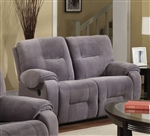 Villa Light Grey Microfiber Reclining Loveseat by Acme - 50801
