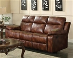 Dyson Light Brown Polished Microfiber Reclining Sofa by Acme - 50815