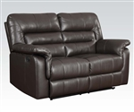 Neon Reclining Loveseat in Dark Brown Leather by Acme - 50841