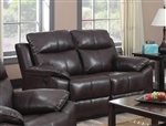 Dyson Burgundy Leather Aire Reclining Loveseat by Acme - 50856