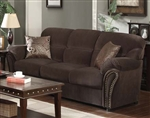Patricia Chocolate Velvet Reclining Sofa by Acme - 50955