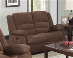 Bailey Dark Brown Chenille Reclining Loveseat by Acme - 51026