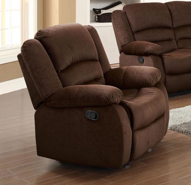 Bailey Chocolate Velvet Reclining Sofa By Acme 51030