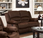 Bailey Chocolate Velvet Reclining Loveseat by Acme - 51031