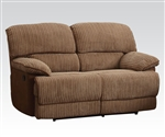 Malvern Two Tone Brown Fabric Reclining Loveseat by Acme - 51141