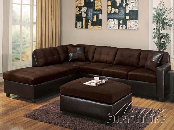 Milano chocolate easy rider espresso bycast left facing for Brown sectional with chaise