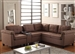 Cleavon Brown Linen Reversible Sectional by Acme - 51530