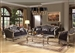 Chantelle 2 Piece Sofa Set in Antiqued Silver Finish by Acme - 51540-S