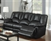 Obert Dark Brown Leather Aire Reclining Sofa by Acme - 51655