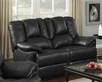 Obert Dark Brown Leather Aire Reclining Loveseat by Acme - 51656