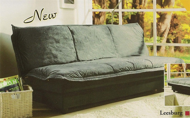 Leesburg Sofa Bed With Storage In Sage Microfiber Cover By