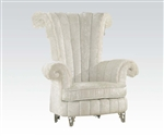 Parr Neo Classic White Accent Chair by Acme - 59124
