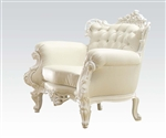 Nels Neo Classic White Accent Chair by Acme - 59137