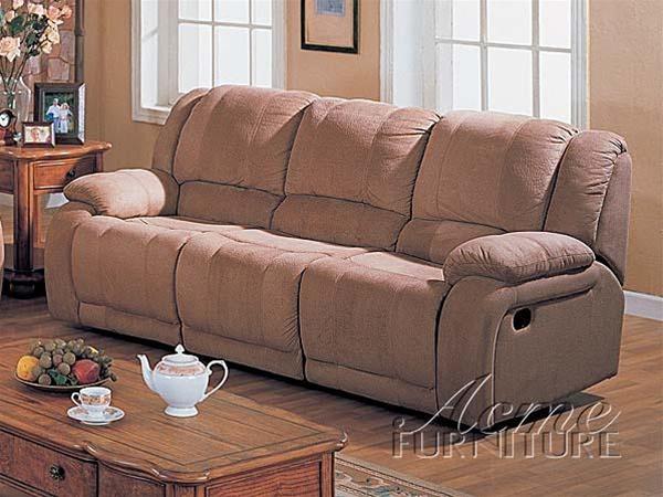 Binghamton Sand Color Microfiber 2 Piece Reclining Sofa