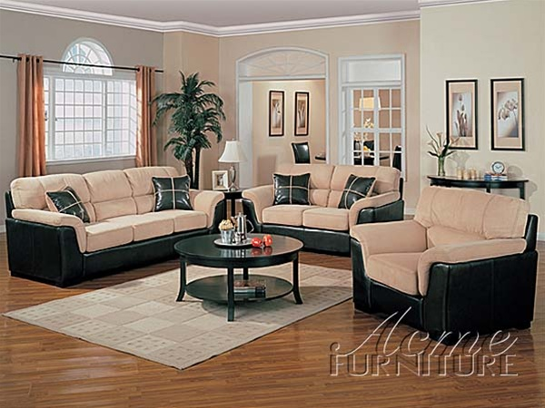 Corfland Two Tone Mist Easy Rider / Brown Bycast 2 Piece Sofa Set By Acme    5940 S