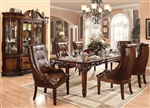 Winfred 5 Piece Dining Set in Cherry Finish by Acme - 60075