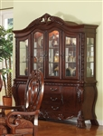 Quinlan Buffet and Hutch in Cherry Finish by Acme - 60270