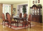 Quimby Leg Table 7 Piece Dining Set in Cherry Finish by Acme - 60275