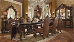 Versailles Pedestal Table 7 Piece Dining Set in Cherry Oak Finish by Acme - 61100