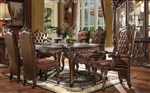 Versailles Leg Table 7 Piece Dining Set in Cherry Oak Finish by Acme - 61110