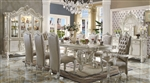 Versailles Pedestal Table 7 Piece Dining Set in Bone White Finish by Acme - 61130