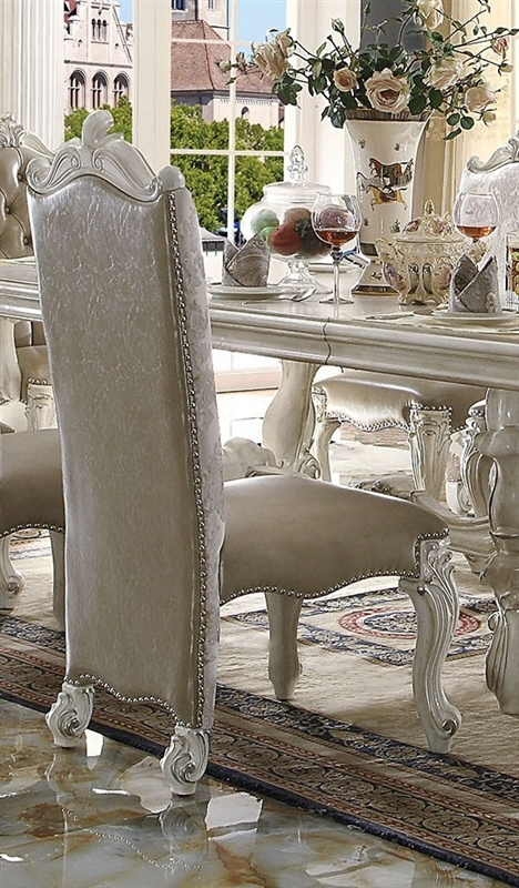Versailles Pedestal Table 7 Piece Dining Set In Bone White