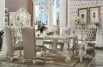 Versailles 7 Piece Dining Set in Bone White Finish by Acme - 61145