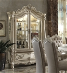 Versailles Curio Cabinet in Bone White Finish by Acme - 61153