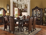 Versailles Counter Height Table 5 Piece Dining Set in Cherry Oak Finish by Acme - 61155