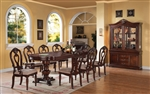 Gwyneth Double Pedestal Table 7 Piece Dining Set in Cherry Finish by Acme - 62860