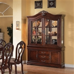 Gwyneth Buffet and Hutch in Cherry Finish by Acme - 62865