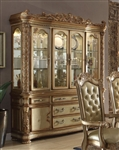 Vendome Buffet and Hutch in Gold Patina Finish by Acme - 63005