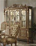 Dresden Buffet and Hutch in Gold Patina Finish by Acme - 63155