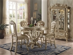 Dresden 5 Piece Counter Height Dining Set in Gold Patina Finish by Acme - 63160