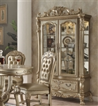 Dresden Curio Cabinet in Gold Patina Finish by Acme - 63163
