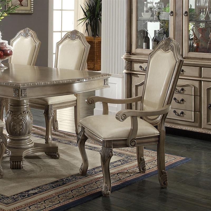 Acme Furniture Chateau De Ville 7 Piece Formal Dining Set: Chateau De Ville Double Pedestal Table 7 Piece Dining Set