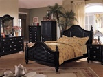 Heritage 6 Piece Black Finish Bedroom Set by Acme - 6970