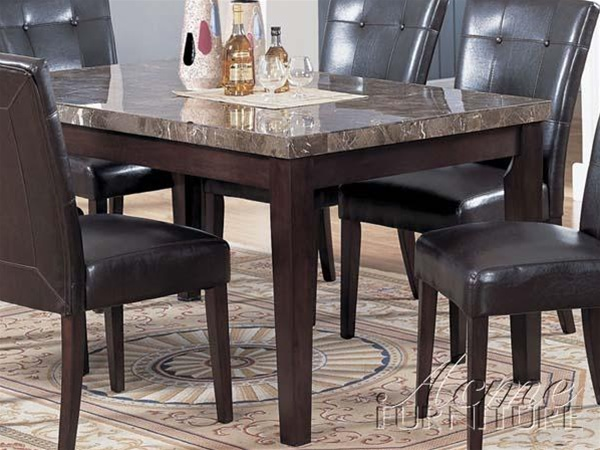 Danville Piece Marble Top Counter Height Table Set
