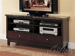 Danville Marble Top TV Stand in Espresso Finish by Acme - 7093
