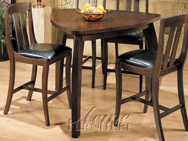 5 Piece Miles Counter Height Dining Set with Triangular  : ACME 7440 3 from www.homecinemacenter.com size 600 x 450 jpeg 117kB